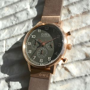 Kingsbridge Leather Strap Chrono Watch - watches