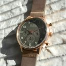Kingsbridge Leather Strap Chrono Watch