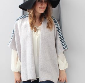 Knitted Lambswool Grey Cardigan - jumpers & cardigans