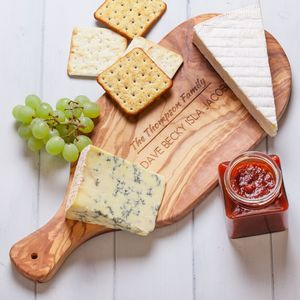Personalised Olivewood Antipasti Serving Board - kitchen