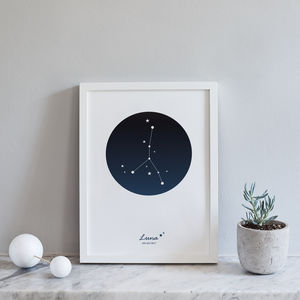 A4 Personalised Zodiac Constellation Prints - mixed media & collage