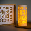 1st Anniversary Gift Papercut Personalised Luminary