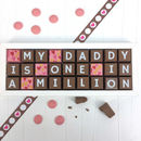 One In A Million Daddy Personalised Chocolate Message