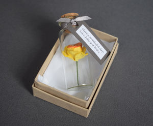 Tiny Paper Daffodil In A Bottle With Personalised Tag - fresh & alternative flowers