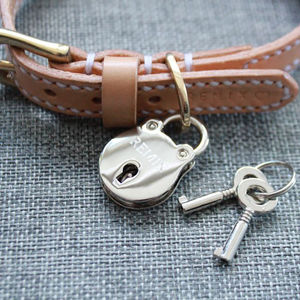 Personalised Silver Handcuff Lovelock Dog Tag - pet tags & charms