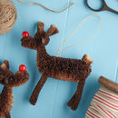 Bristle Reindeer Christmas Decoration