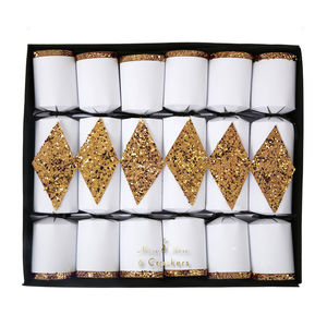 Gold Wine Charm Christmas Crackers - crackers
