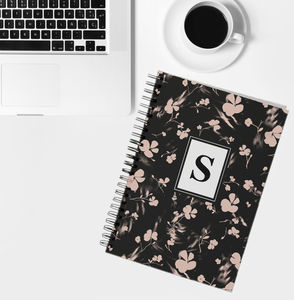 Personalised Initial Notebook Silhouette Print - whats new