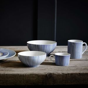 Hand Painted Fine Stripe Ceramics - mugs