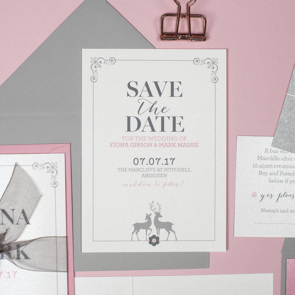 Stag Save The Date Cards
