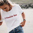'Vitamin Sea' Slogan T Shirt In Yellow