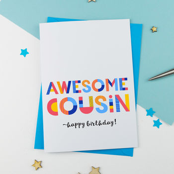 Awesome Cousin All Purpose Personalised Card