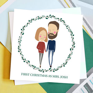 Personalised First Christmas Couple Card - cards sent direct