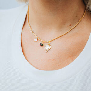Saturn, Star And Moon Short Necklace