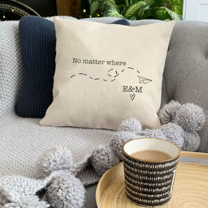 Valentine's Long Distance Relationship Cushion