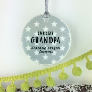 Ceramic Memorial Star Shining Bright Forever Bauble