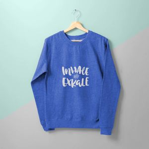 'Inhale Ex Kale' Ladies Sweater