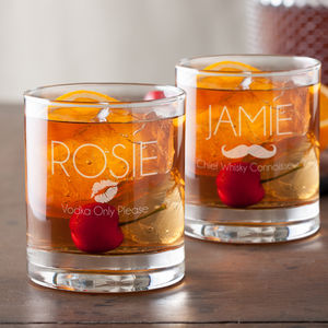 Personalised Tumbler Set - drinks connoisseur