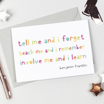 Inspirational Quote Teacher Card