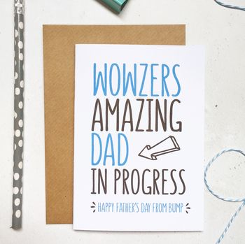 Dad In Progress From The Bump Father's Day Card