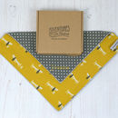 Personalised Handkerchief : Dogs And Polka Dots