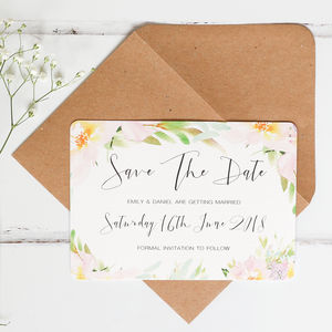 Pastel Meadow Wedding Save The Date