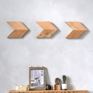 Reclaimed Wood Arrow Wall Art Set - what's new