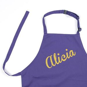 Personalised Sparkly Girls Cooking Apron