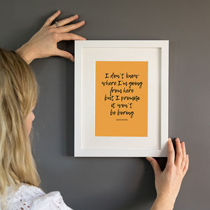 David Bowie Quote A5 Art Print