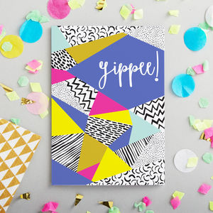 'Yippee' Blank Card - congratulations cards