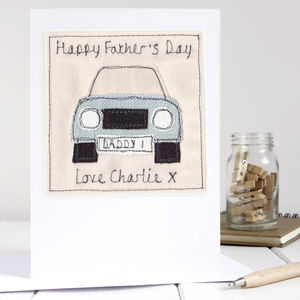 Personalised Car Fathers Day Card