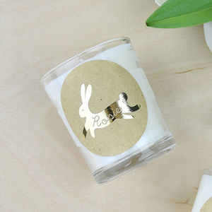 Personalised Bunny Rabbit Candle - summer sale