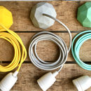 cloud grey fabric cable set