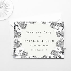 Floral Save The Date Postcards Pack Of 20 - invitations