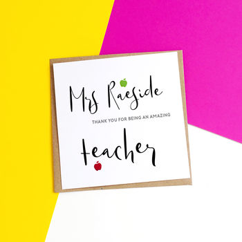 Personalised Amazing Teacher Card