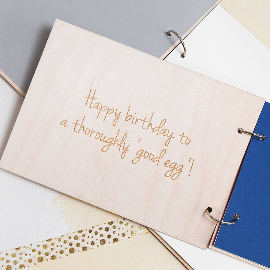 personalised birthday wishes keepsake book by clouds and currents