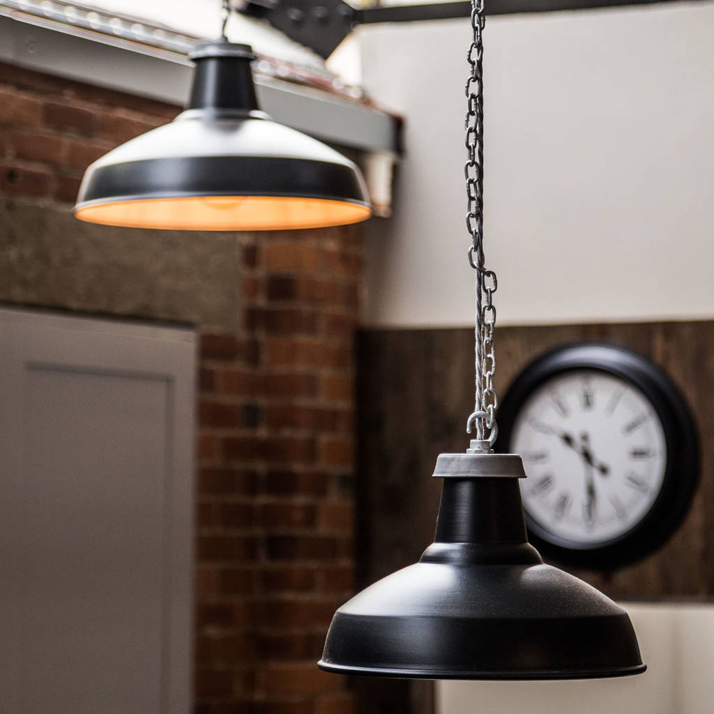 Industrial Enamel Pendant Light