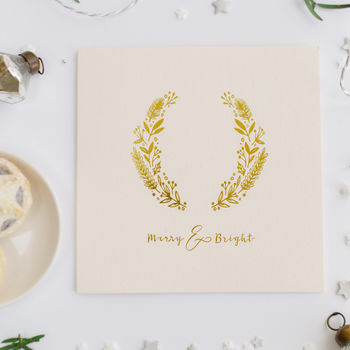 Luxury Hot Foil Blush And Gold Christmas Card