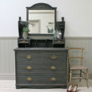 Imposing Edwardian Painted Dressing Chest