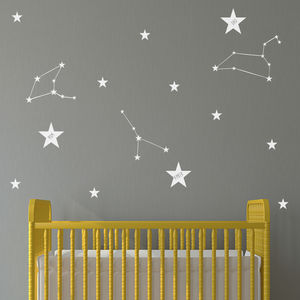 Personalised Constellation Wall Stickers - dreamland nursery