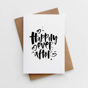 'Happily Ever After' Wedding Card - engagement cards