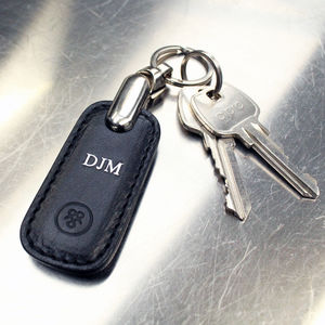 Personalised Leather Groomsman's Key Ring. 'The Ponte'