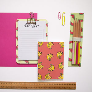 Fruity Clipboard Stationery Set