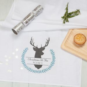 Personalised Winter Stag Decorative Table Runners - kitchen