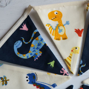 Dinosaur Mini Cotton Bunting