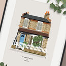 Personalised Portrait House Print