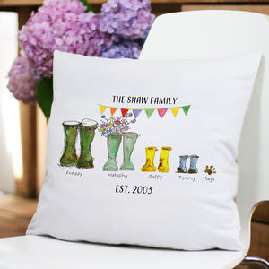 Personalised Welly Boot Cushion Cover - what's new