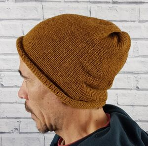 Eco Friendly Beanie Hat Oranges And Yellows