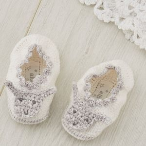 Hand Crochet Lamb Baby Booties