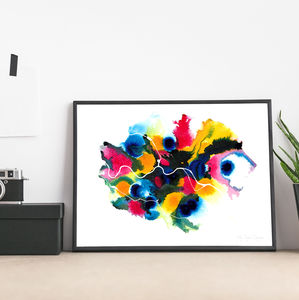 'Berlin' Abstract Map Fine Art Giclée Print